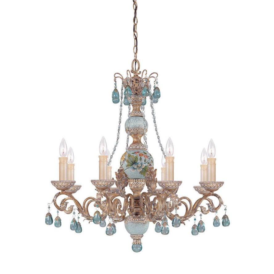 Products Cerulean 8 Light Chandelier Savoy House Europe