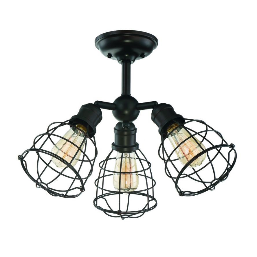 Products Scout 3 Light Adjustable Semi Flush Savoy