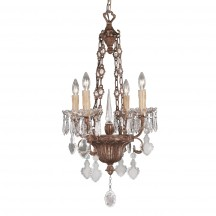 Savoy House Europe Bronze&Crystal 4 Light Chandelier