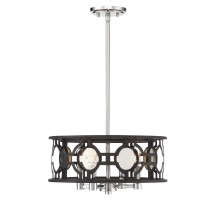 Savoy House Europe Chennal 4 Light Convertible Semi Flush