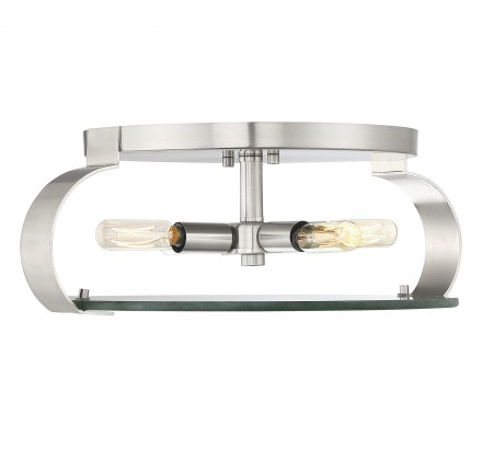 Savoy House Europe Drummond Satin Nickel Flush Mount