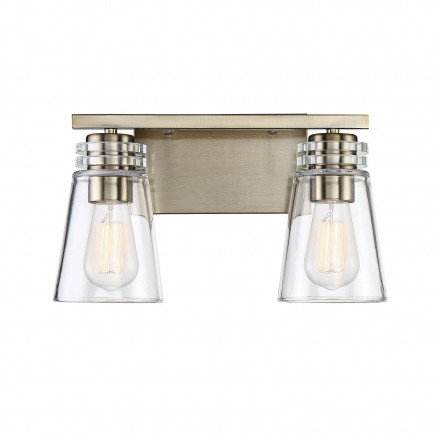 Savoy House Europe Brannon 2 Light Noble Brass Bath Bar