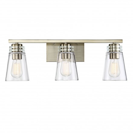 Savoy House Europe Brannon 3 Light Noble Brass Bath Bar