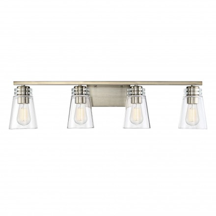 Savoy House Europe Brannon 4 Noble Brass Light Bath Bar