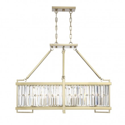 Savoy House Europe Cologne 8 Light Linear Chandelier