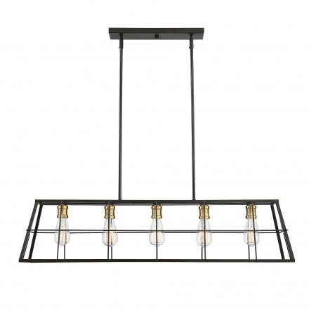 Savoy House Europe Bayden 5 Light Linear Chandelier