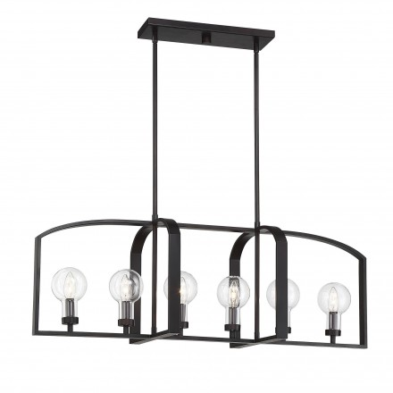 Savoy House Europe Brockton 6 Light Outdoor Linear Chandelier