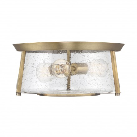 Savoy House Europe Dash 3 Light Warm Brass Flush Mount