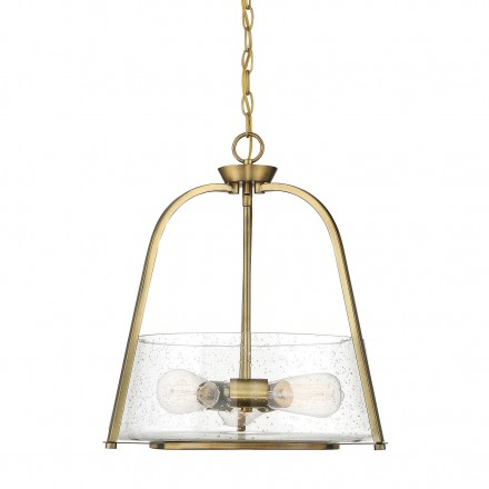 Savoy House Europe Dash 3 Light Warm Brass Pendant