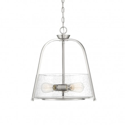Savoy House Europe Dash 3 Light Satin Nickel Pendant