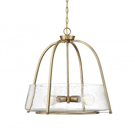 Savoy House Europe Dash 4 Light Warm Brass Pendant