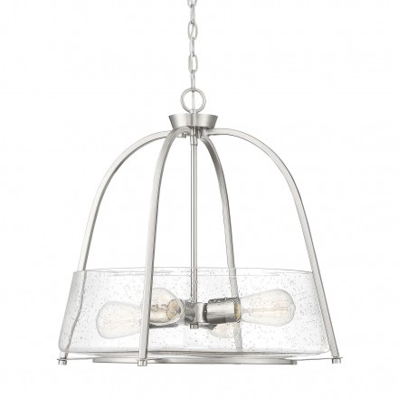 Savoy House Europe Dash 4 Light Satin Nickel Pendant