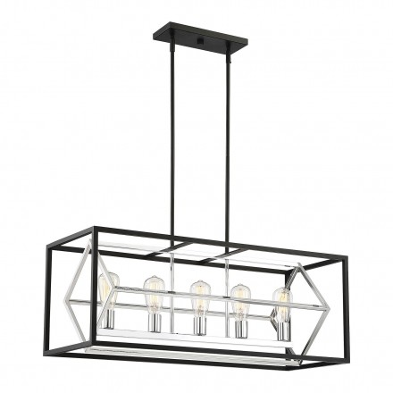 Savoy House Europe Dexter 5 Light Linear Chandelier