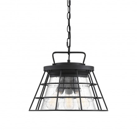 Savoy House Europe Farnham 3 Light Black Convertible Semi Flush