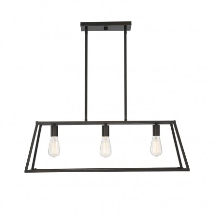 Savoy House Europe Denton 3 Light Bronze Linear Chandelier