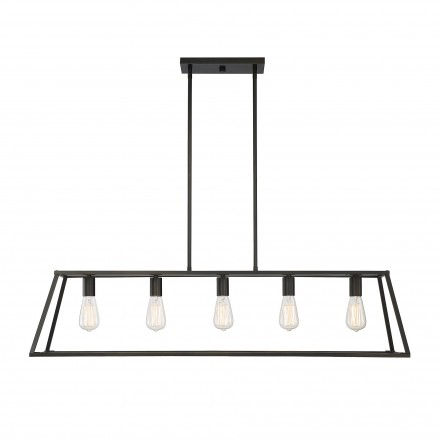 Savoy House Europe Denton 5 Light Bronze Linear Chandelier
