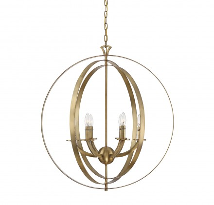 Savoy House Europe Dumont 6 Light Warm Brass Pendant