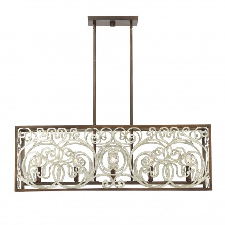 Savoy House Europe Erhardt 5 Light Linear Chandelier