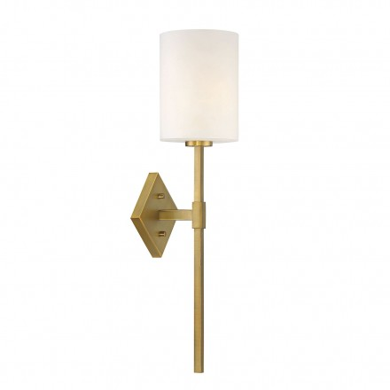 Savoy House Europe Destin 1 Light Warm Brass Wall Sconce