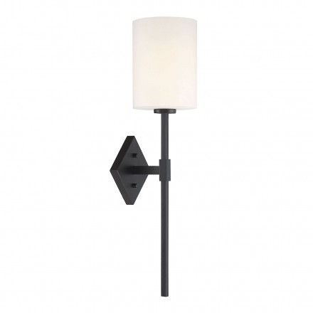 Savoy House Europe Destin 1 Light Black Wall Sconce