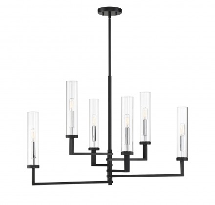 Savoy House Europe Folsom 6 Light Linear Chandelier