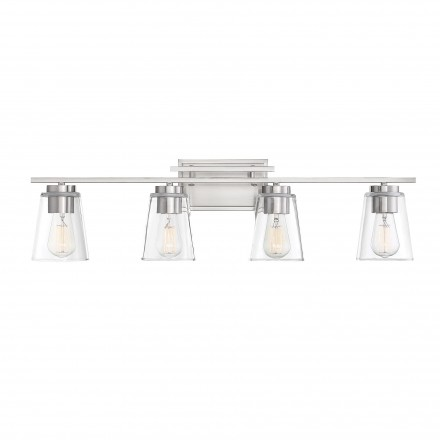 Savoy House Europe Calhoun 4 Light Satin Nickel Bath Bar