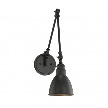 Savoy House Europe Dakota 1 Light Matte Black Wall Sconce