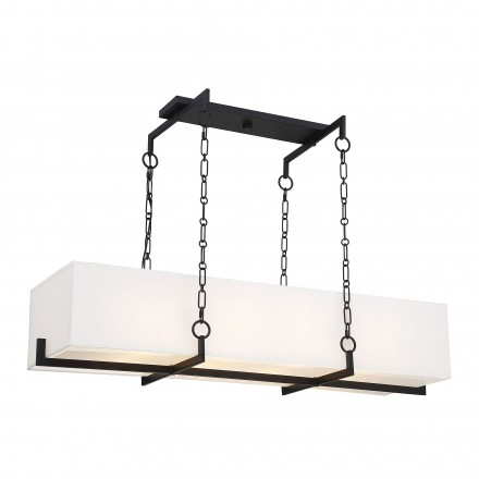 Savoy House Europe Abbott Matte Black Linear Chandelier