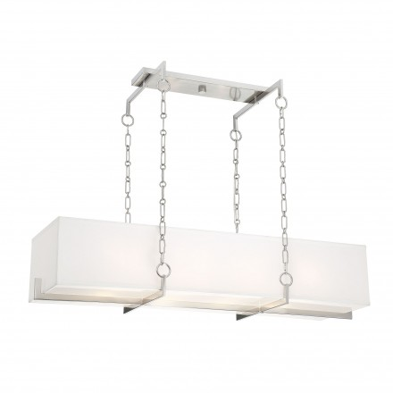 Savoy House Europe Abbott Satin Nickel Linear Chandelier