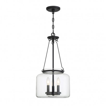 Savoy House Europe Akron 3 Light Matte Black Pendant