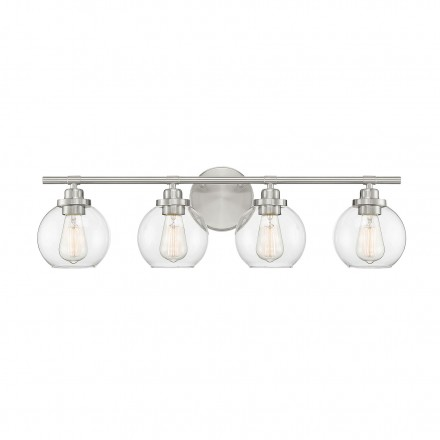 Savoy House Europe Carson Satin Nickel 4 Light Bath