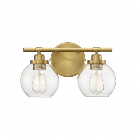 Savoy House Europe Carson Warm Brass 2 Light Bath