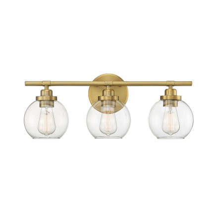 Savoy House Europe Carson Warm Brass 3 Light Bath