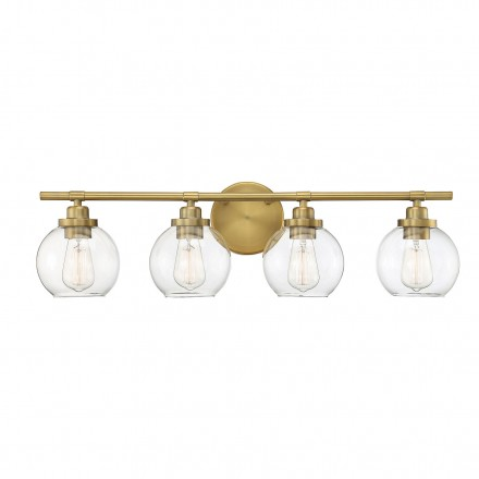 Savoy House Europe Carson Warm Brass 4 Light Bath