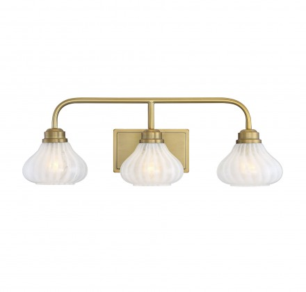 Savoy House Europe Darlington Warm Brass 3 Light Bath