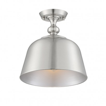 Savoy House Europe Berg Satin Nickel 1 Light Semi-Flush