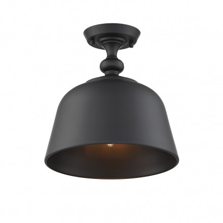 Savoy House Europe Berg Matte Black 1 Light Semi-Flush