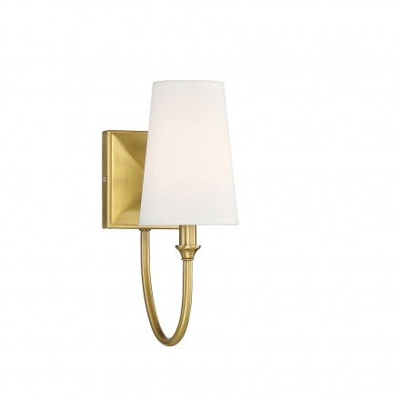 Savoy House Europe Cameron Warm Brass 1 Light Sconce
