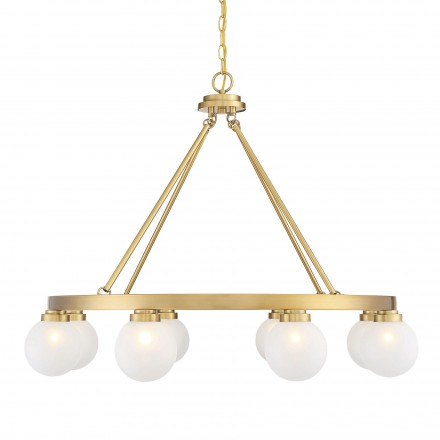 Savoy House Europe Avery Warm Brass 8 Light Chandelier