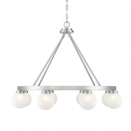 Savoy House Europe Avery Satin Nickel 8 Light Chandelier