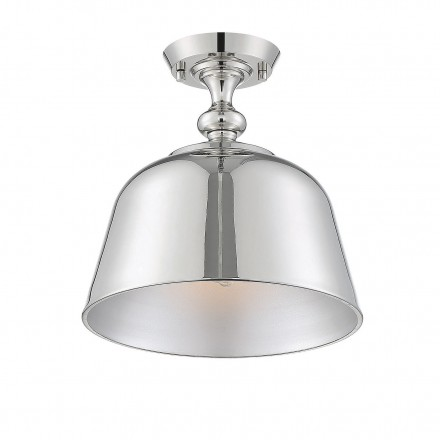 Savoy House Europe Berg Polished Nickel 1 Light Semi-Flush