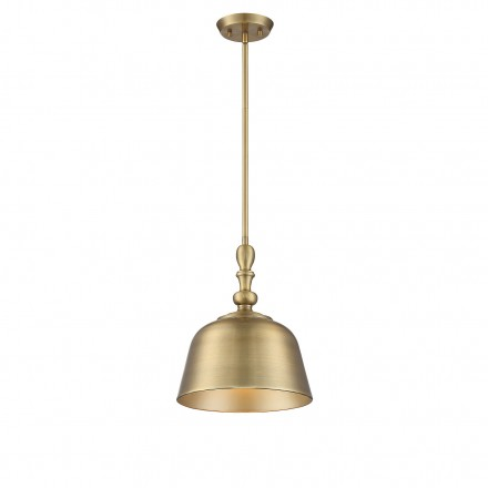 Savoy House Europe Berg Warm Brass 1 Light Pendant