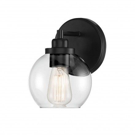 Savoy House Europe Carson Matte Black 1 Light Sconce