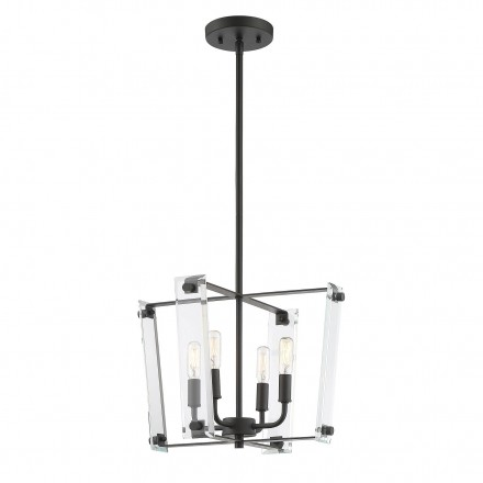 Savoy House Europe Everett Matte Black 4 Light Pendant