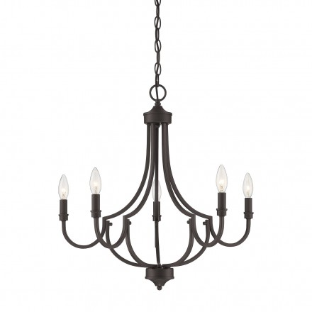 Savoy House Europe Auburn English Bronze 5 Light Chandelier