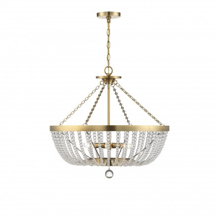 Savoy House Europe Bergamo Warm Brass 6 Light Pendant