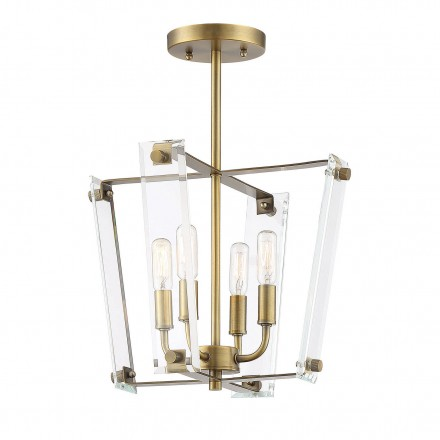Savoy House Europe Everett Warm Brass 4 Light Semi-Flush