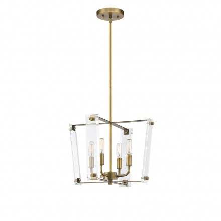 Savoy House Europe Everett Warm Brass 4 Light Pendant