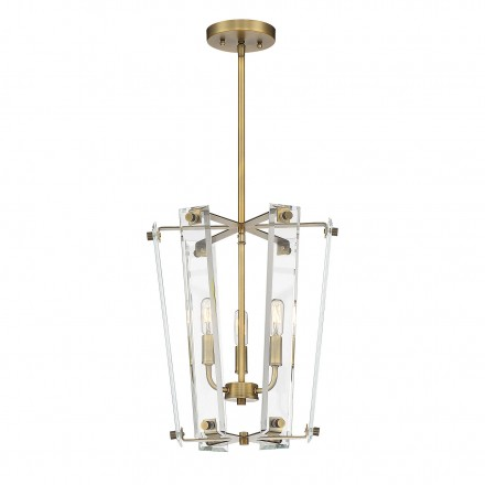 Savoy House Europe Everett Warm Brass 3 Light Foyer
