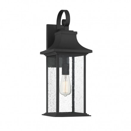 Savoy House Europe Hancock Matte Black 1 Light Outdoor Sconce